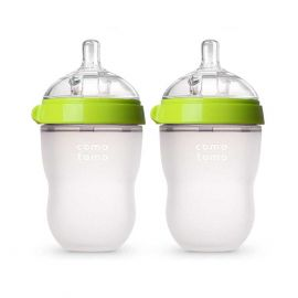 Comotomo Baby Bottle, Green, 8 Ounce
